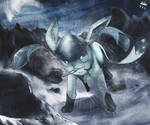 Glaceon with Bright Powder
