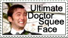 Doctor Squee Face Stamp by GangsterMuffin