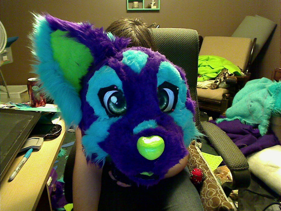 Neo Fursuit Head WIP by Kiweeroo