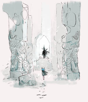 through the ruins they walked