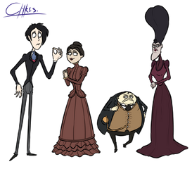 Redesign of the characters from the Corpse Bride
