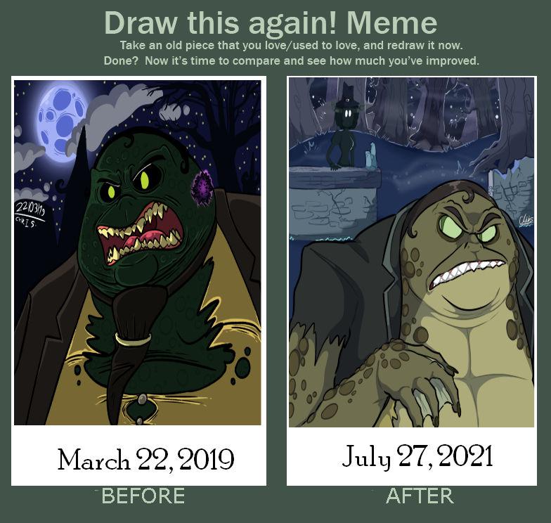 Draw This Again Meme - CB Monster AU Fanart