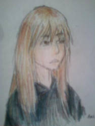 Colored Pencil Self Portrait by Isolated-Scetch
