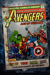 Avengers Age of Ultron Vintage Comics Movie poster