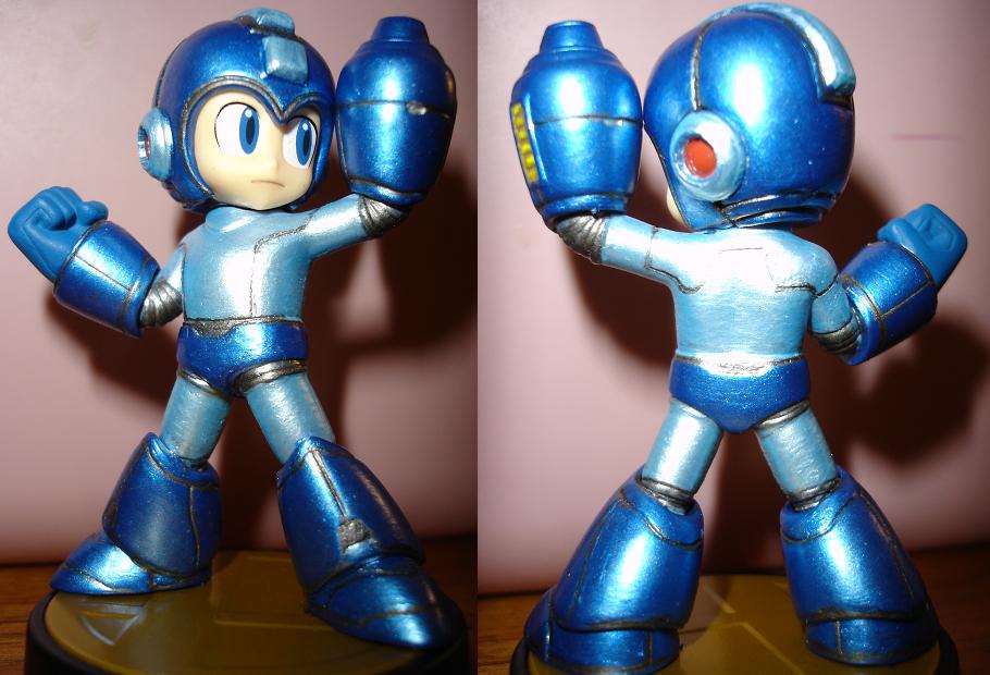 Megaman custom Amiibo by Fang-Himura