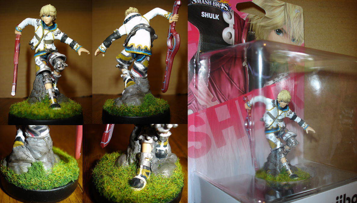Custom Shulk Amiibo. by Fang-Himura