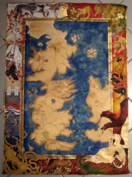 Game of Thrones Map Painting 13
