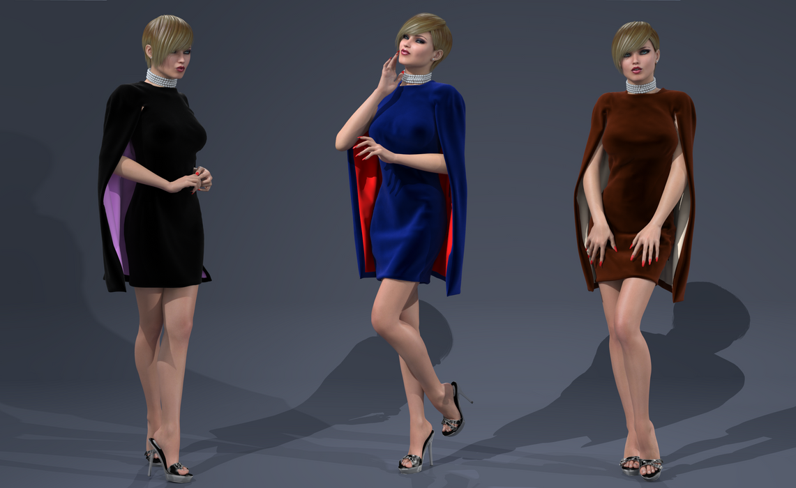 My new dual-layered Cape Dress by AmethystPendant