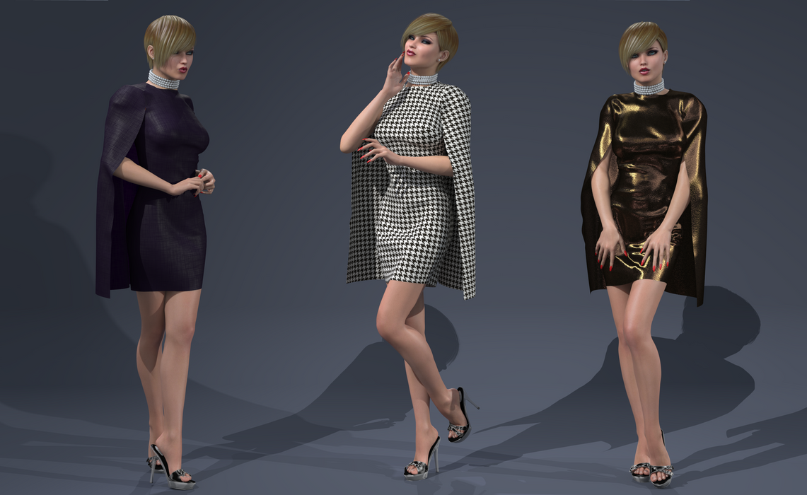 My new single-layered cape dress by AmethystPendant