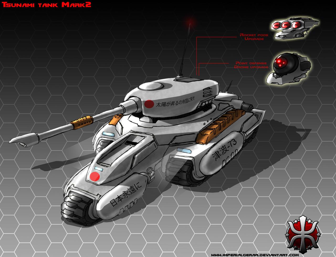 Tsunami tank Mark2 by ImperialGerar on DeviantArt Red Alert 3 Tank