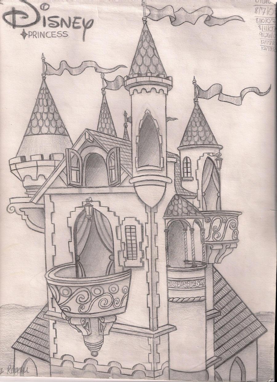 disney castle by luuvv...