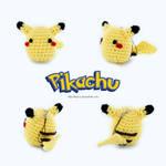 Crochet Chibi Pikachu Phone Strap