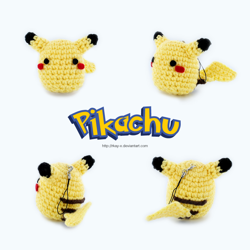 crochet chibi pikachu phone strap by rkay x on deviantart