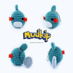 Crochet Chibi Mudkip Phone Strap