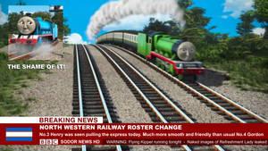 Sodor News - North Western Railway Roster Change