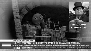 Sodor News - NWR Locomotive Stops in Tunnel