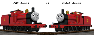 Model James vs CGI James