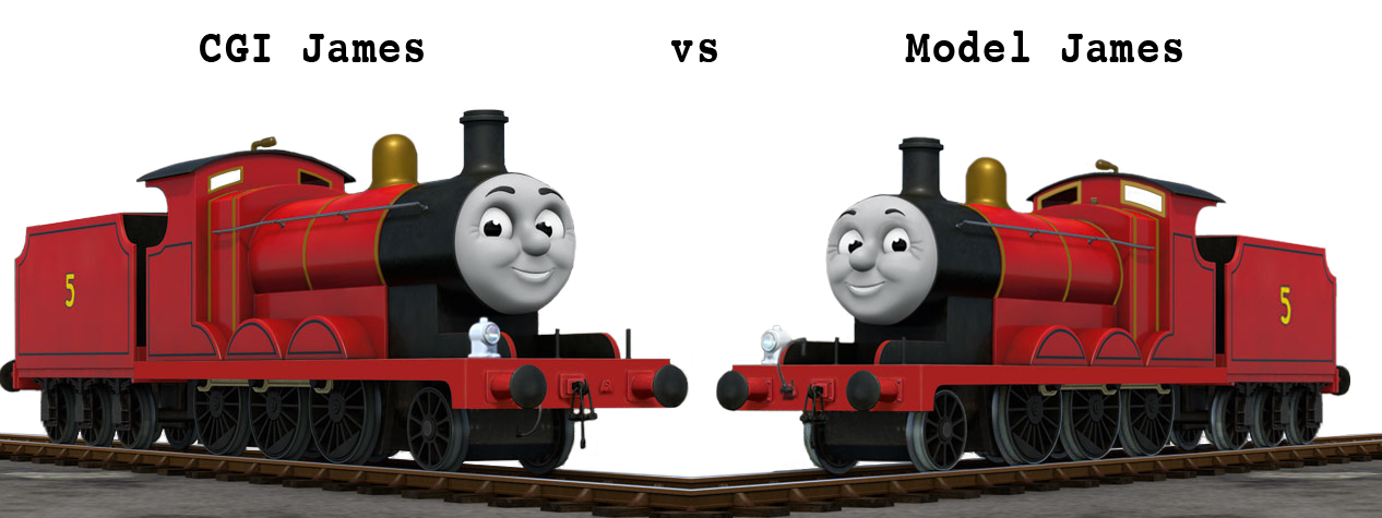 Model James vs CGI James