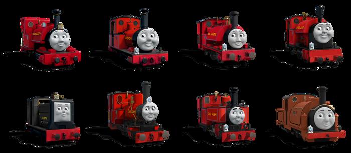 Skarloey Railway Engines RWS Liveries