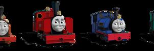 Mid Sodor Railway Engines RWS Liveries