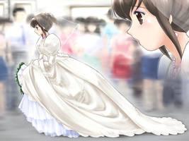 Okashina Futari/The Bride's rush through the train