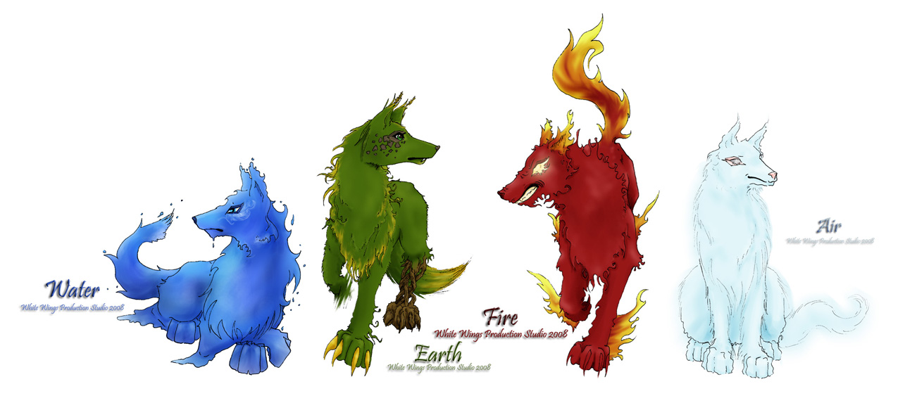 Wolves of the Four Elements - Art of the Elements (showing ...