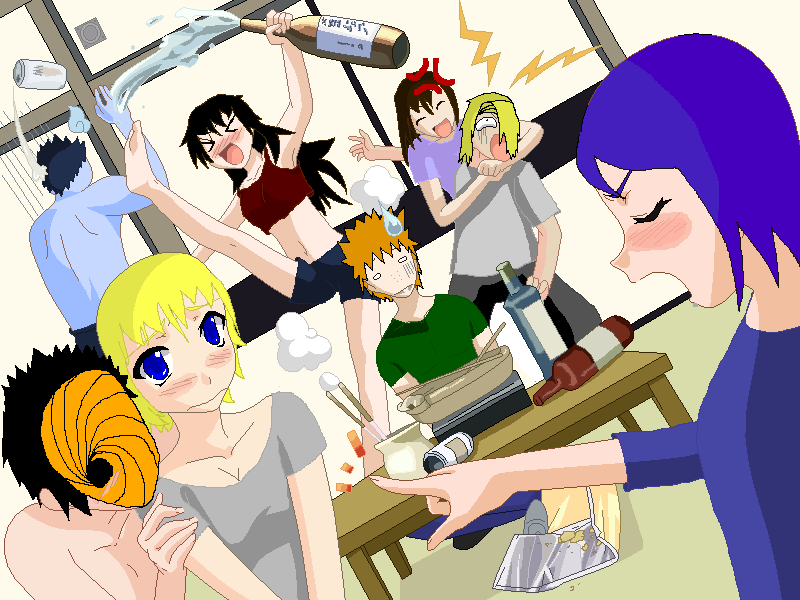 What Goes on When the Akatsuki Go Drinking by 2lazy2thinkofaname on ...