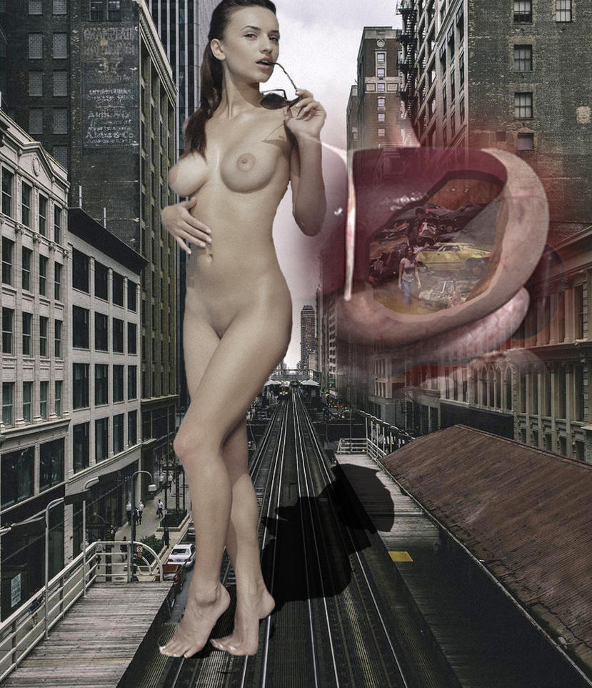 Giantess eating the city by 1trough100