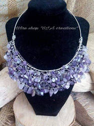 Neclace with Silver and Amethyst by Sissiwire