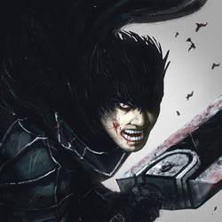 The black swordsman by ImmarArt