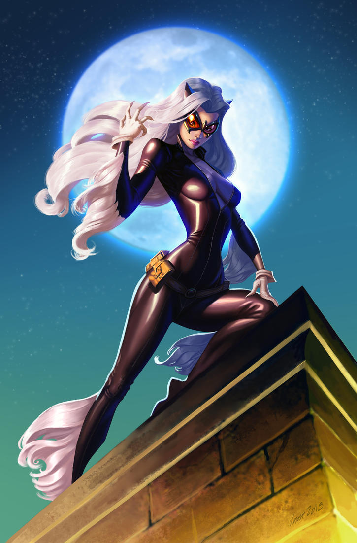 Black cat by ImmarArt