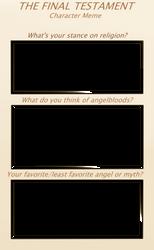 TFT Character Meme - Survey by ZemmaStudios
