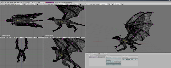 Dragon Wireframe by Goldkin