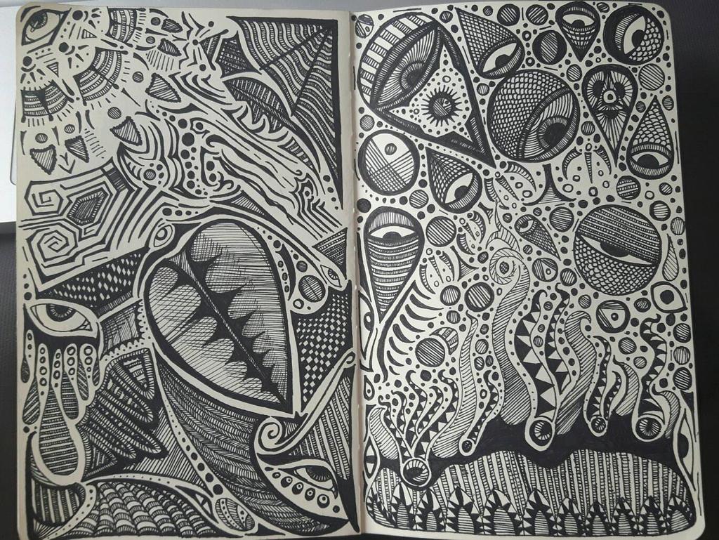 Sketchbook doodle 28-29 by PhoenixShaman
