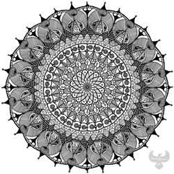 Mandala of many eyes by PhoenixShaman