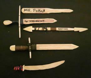 Widdle Whittled blades by PhoenixShaman