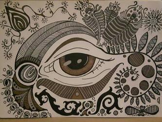 Untitled with metallic markers by PhoenixShaman
