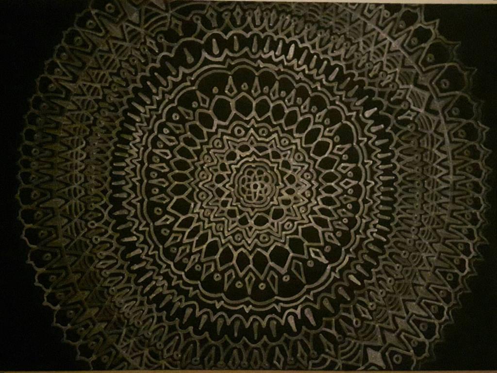 Silver mandala by PhoenixShaman