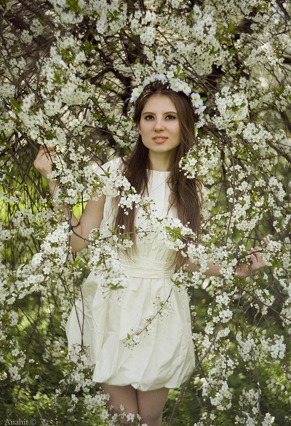 Cherry spring girl by VAMPIdor