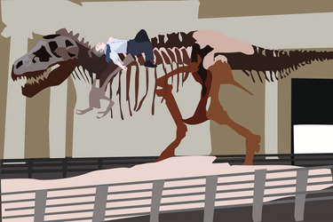 Hangover at the Museum by TheShadowIllusionist
