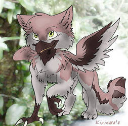 Little gryphon in rainforest by Kipine