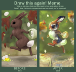 Draw this again meme - bunny