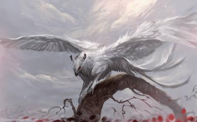 Winged Deity by Kipine