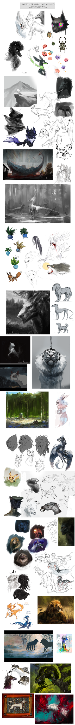 Sketchdump 2016 by Kipine