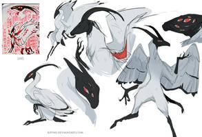 Antelope Ibis character by Kipine