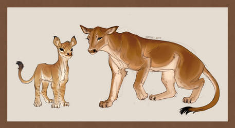 Cow and Calf Lion