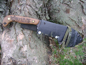 Wolvering Knife Handle