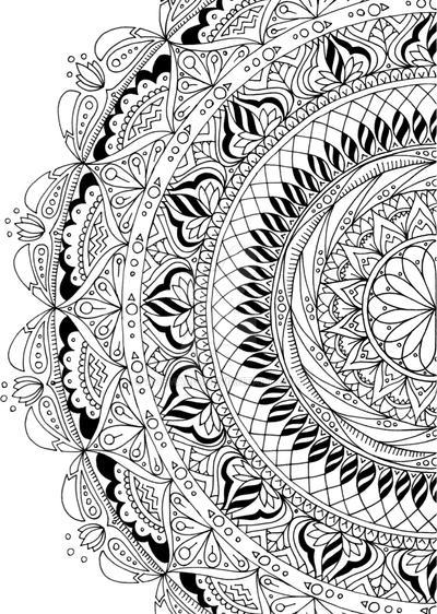 spring partial mandala coloring page by ademaris on deviantart. Black Bedroom Furniture Sets. Home Design Ideas
