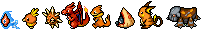 Orange Pokemon Sprite Divider