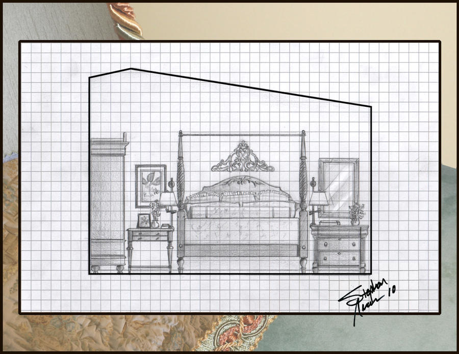 Bedroom Elevation Drawing By Achuman On Deviantart